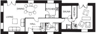 carbery 1 dunmanus bay holiday home floor plan downstairs